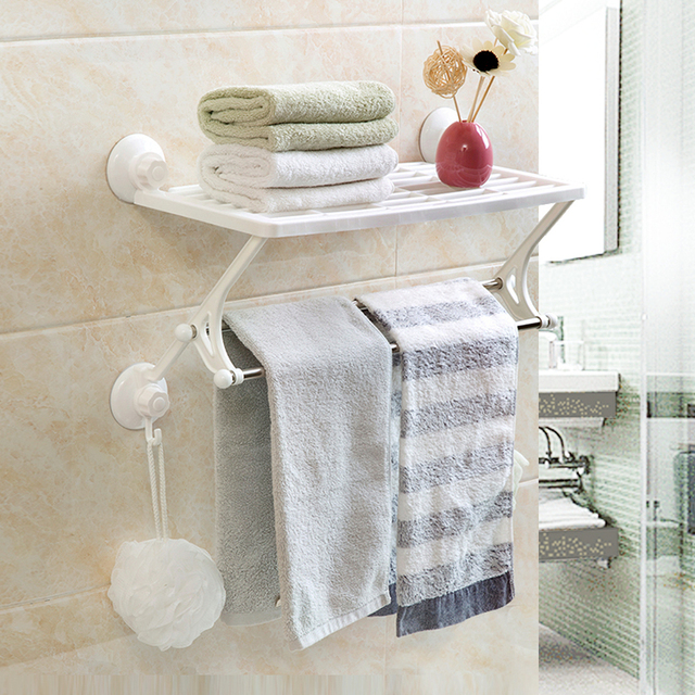 Bathroom Towel Bars Bathroom Holder Organizer Plastic Wall mounted ...