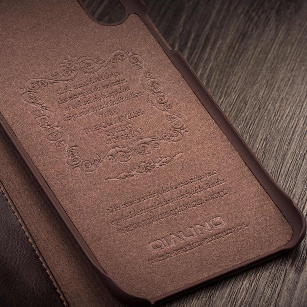 QIALINO étui pour iPhone X XR de luxe en cuir véritable étui portefeuille pour Apple iPhone XS XS étuis MAX Ultra mince Folio fait à la main