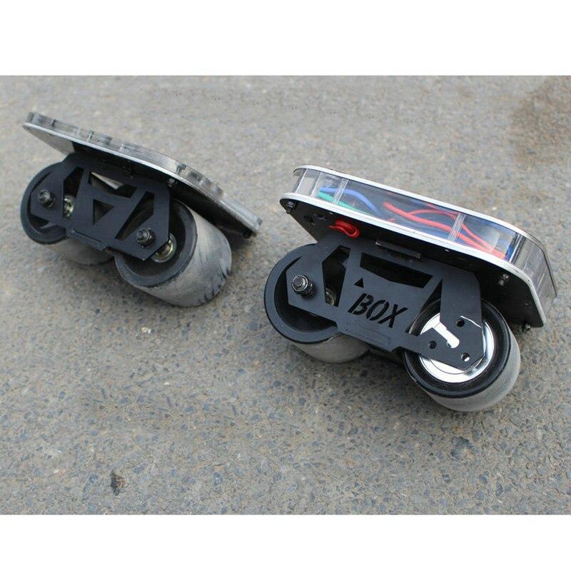 Nouvelle planche à roulettes électrique 70mm roues planche à roulettes électrique 20 km/h 150 w moteur planche à roulettes 2200 mah moteur