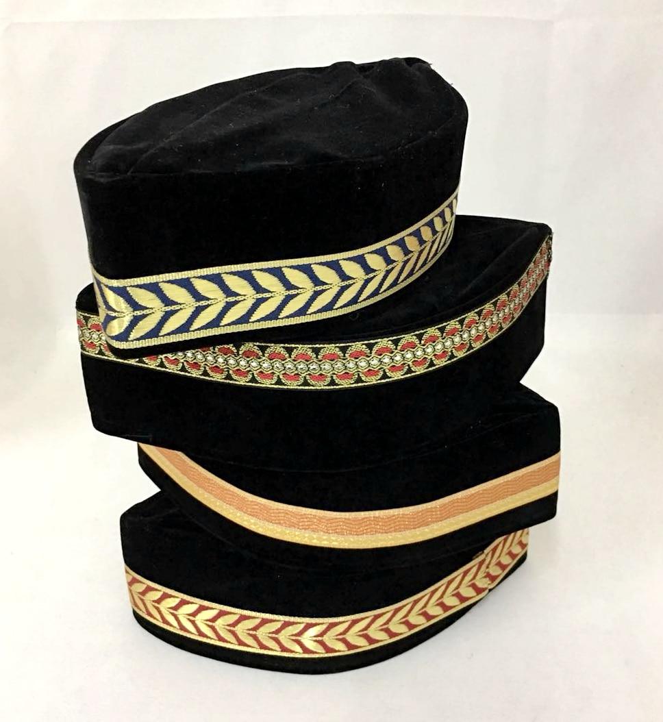 4pcs bag Muslim Men Cap Turban Black Islamic Hat (the Decorative Border  Random) Pleuche Can mix sizes-in Islamic Clothing from Novelty   Special  Use on ... aa41fb50e674