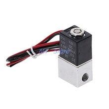 """1 шт. DC 12 В электромагнитный клапан 1/"""" электрический клапан нормально закрытый пневматический Алюминиевый Электрический электромагнитный воздушный клапан 2 способа"""