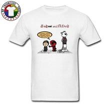 Deadpool & Friends Quotes Comic New T Shirts Superhero Cartoon 100% Cotton Fashion Casual Print Tee Boy