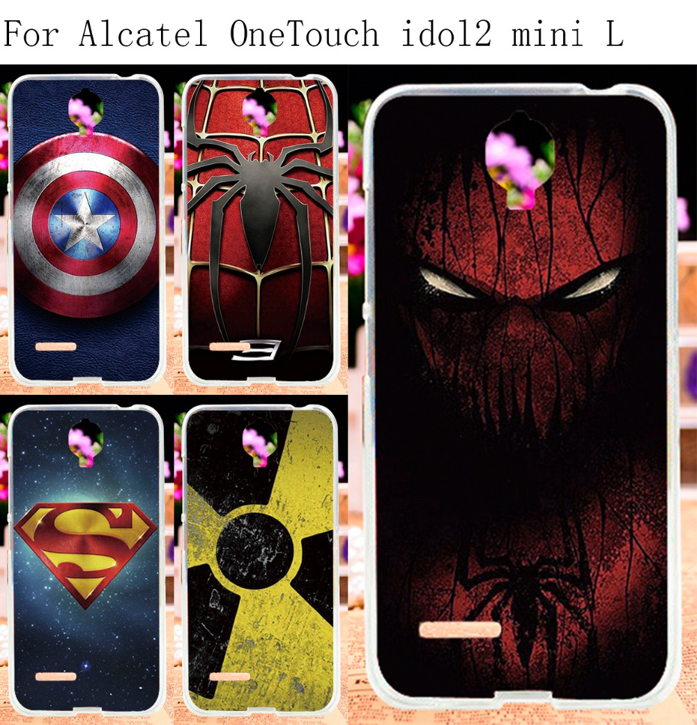 Soft TPU Phone Case For Alcatel OneTouch One Touch Idol 2 Mini L 6014 Cover Superman