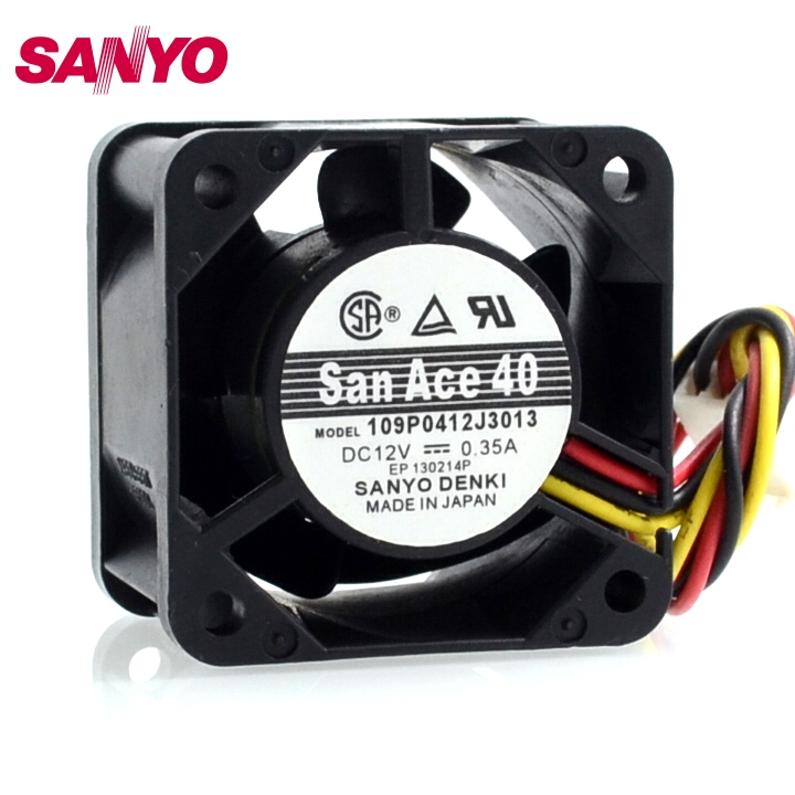 SANYO new 109P0412J3013 4028 4CM 12V 0 35A wind speed cooling fan 40 40 28mm