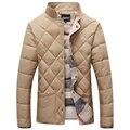Мужчины Зимняя куртка утолщение верхняя одежда мужской плюс размер тепловой стенд воротник куртки ватные качество одежды 212 9018 p120