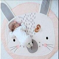 Cartoon Rabbit And Bear Printed child Game Mat/Rug Kids Crawling Soft Carpets baby Bedding Stroller Blanket Child Room Decor Mat