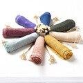 Высокое качество литературный чистый цвет хлопок и лен сложить шарф женский, женский ветер предотвращается греться в лен шарфы платки