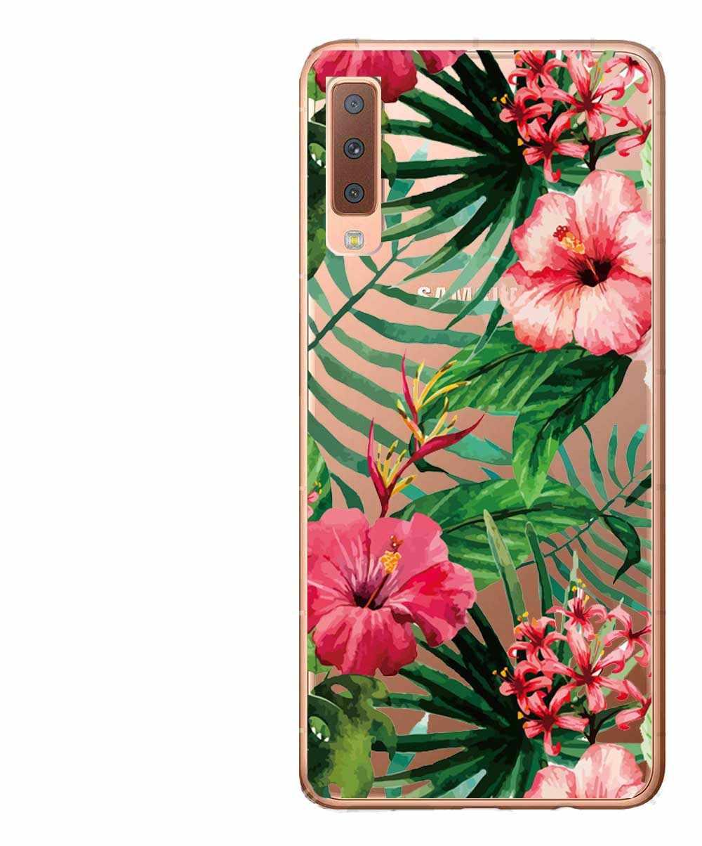 Para Samsung A7 2018 A750 A750F caso 6,0 pulgadas de silicona suave caso de teléfono para Samsung Galaxy A6 A8 Plus 2018 funda bonita pintura