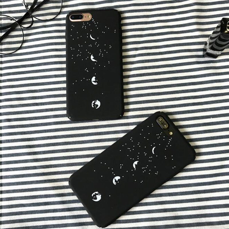 Coque For iphone 6 Lunar Eclipse Black PC Hard Plastic Case For iphone 6 S 6S 6Plus 7 7Plus 8Plus 8 Plus Phone Case