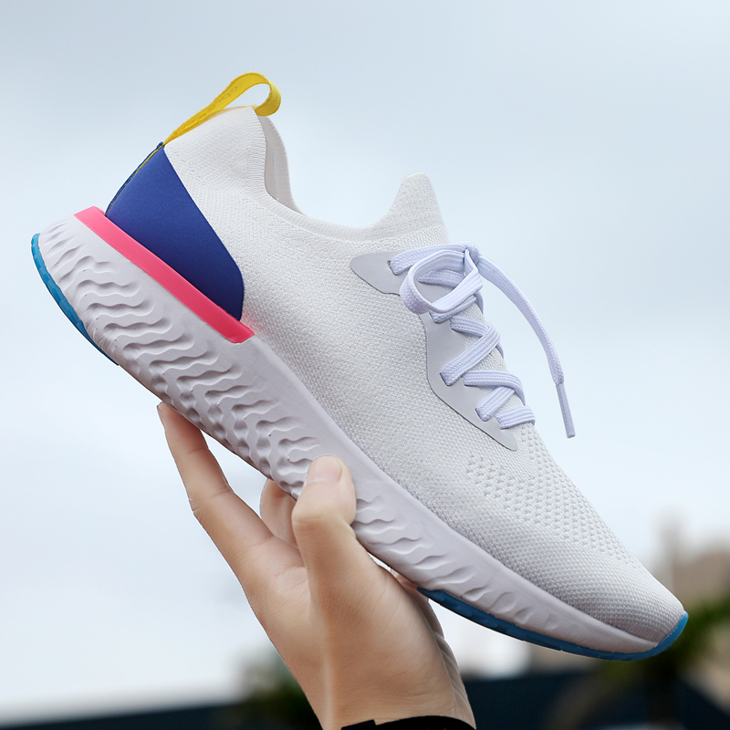 Running Shoes Men Women Epic React Shoes Flyknit Outdoor Sport Sneakers Breathable Mesh Couple Boots Running Shoes Women
