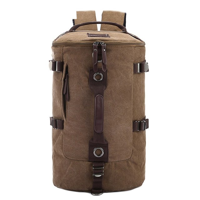 US $19 5 |Aliexpress com : Buy Dropshipping Shopify Hot Sale 2018 Large  capacity man travel bag mountaineering backpack men bags canvas bucket