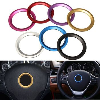 7 Colors Car Steering Wheel Center Decoration Ring Cover For BMW 1 3 4 5 7 Series X1 X3 X5 X6 E81 E87 F30 F31 F34 2013 2014 2015 image