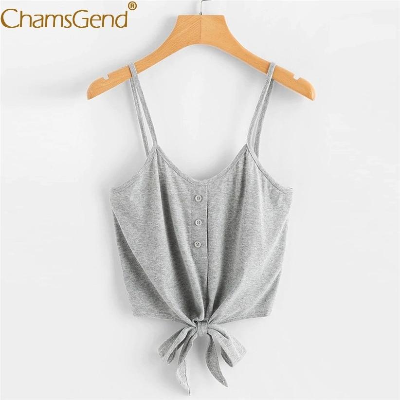 Liefdadig Vrouwen Casual Plain Camis Zomer Strappy Vest Crop Tops Vrouw High Fashion Stropdas Up Streetwear Vakantie Thuis Shirts 90221