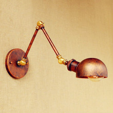 цена на Antique Retro Vintage Wall Lamp Wandlamp Swing Long Arm Light Loft Industrial Wall Lights Edison Wall Sconce Applique Led
