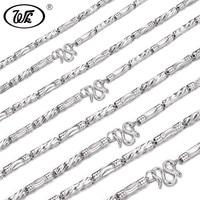 WK новые оригинальные 925 серебро Для мужчин Цепочки и ожерелья Обувь для мальчиков длинный толстый хип-хоп рэппер цепи мужской 2.5 мм 3 мм 4 мм 5 ...