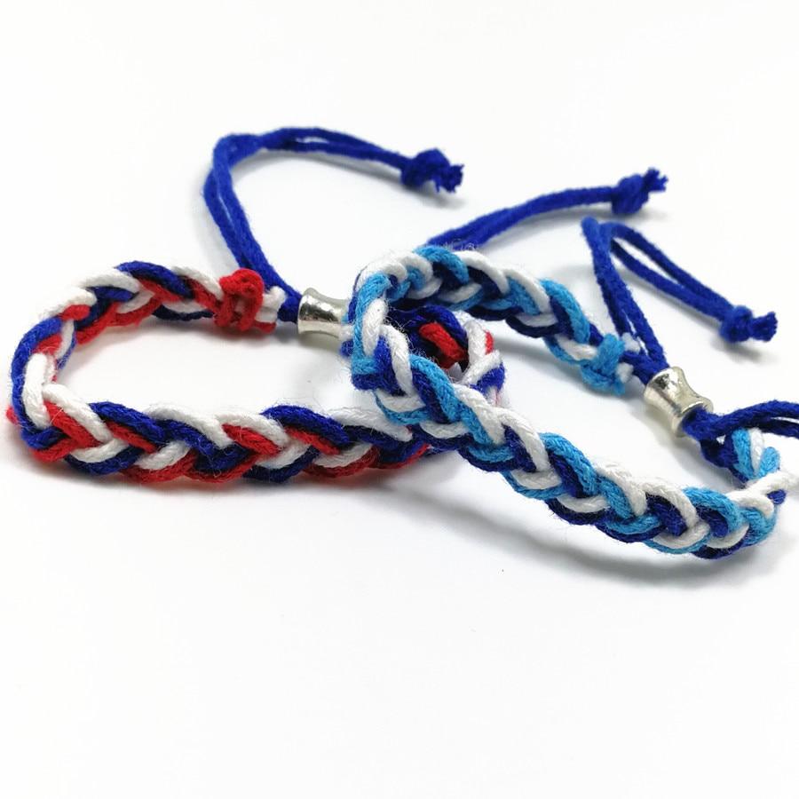 cordón de algodón étnico trenzado pelado estudiante pulseras - Bisutería - foto 4