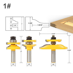 """Image 2 - 3 Bit Raised Panel Cabinet Door Router Bit Set  Bevel 1/2"""" Shank 12mm shankWoodworking cutter Tenon Cutter for Woodworking Tools"""