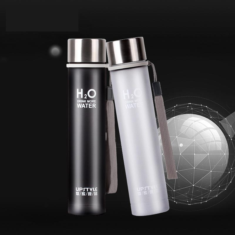 Slimming Creative Portable Leakproof Students Lidded Lovers Water Bottle  Plastic Readily(China (Mainland)