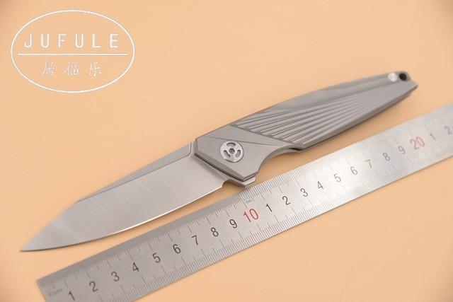Jufule original hecho JF1803 M390 hoja TC4 titanio plegable