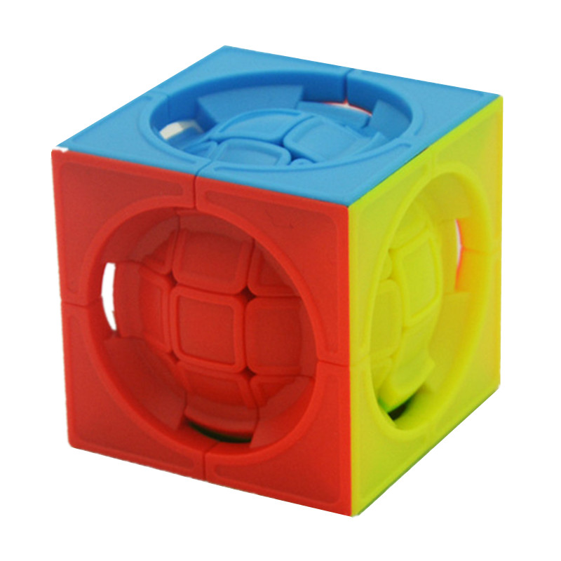 Lefun Deformed 3x3x3 Centrosphere Cube 3x3x3 Magic Cube Puzzle Cubes Educational Toy Special Toys Ball In Cube