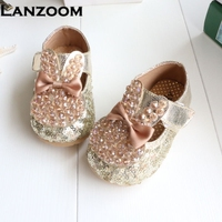 Dress Shoes For Baby Girls Gold Rose Spring Autumn 11 5 15 5 Cm Soft Sole