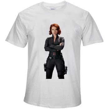 BTFCL Marvel The Avengers END GAME Black widow New Movies T Shirt Summer Cool Tops Tees Men Unisex Loose Plus Size Tshirt