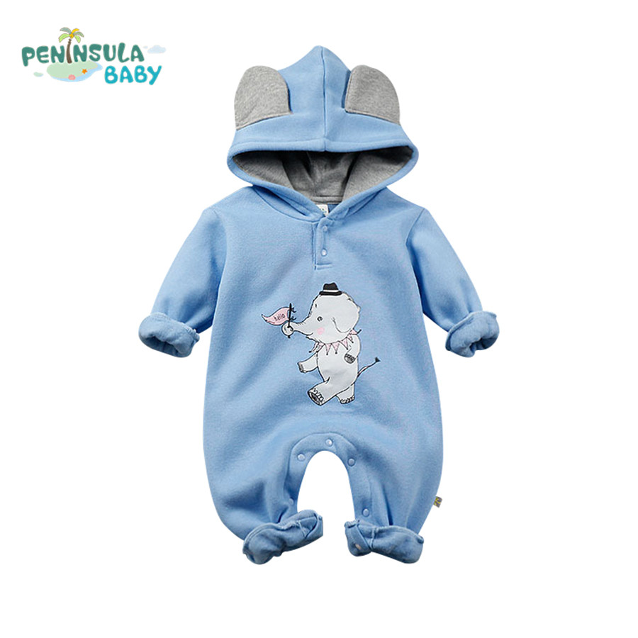 Baby Boys Girls Clothes Spring Autumn Long Sleeve Cartoon Character Hooded Babies Jumpsuit Newborn Baby Cotton Romper Infantil sr118 baby rompers 2016 spring newborn cotton pajamas clothes bebe long sleeve hooded romper infant overall boys girls jumpsuit