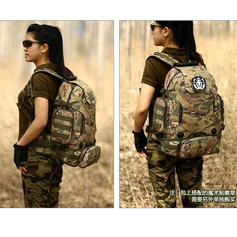 Military camouflage backpack backpack 40 liters travel bags multifunctional Backpack Backpack 14 inch pack female free