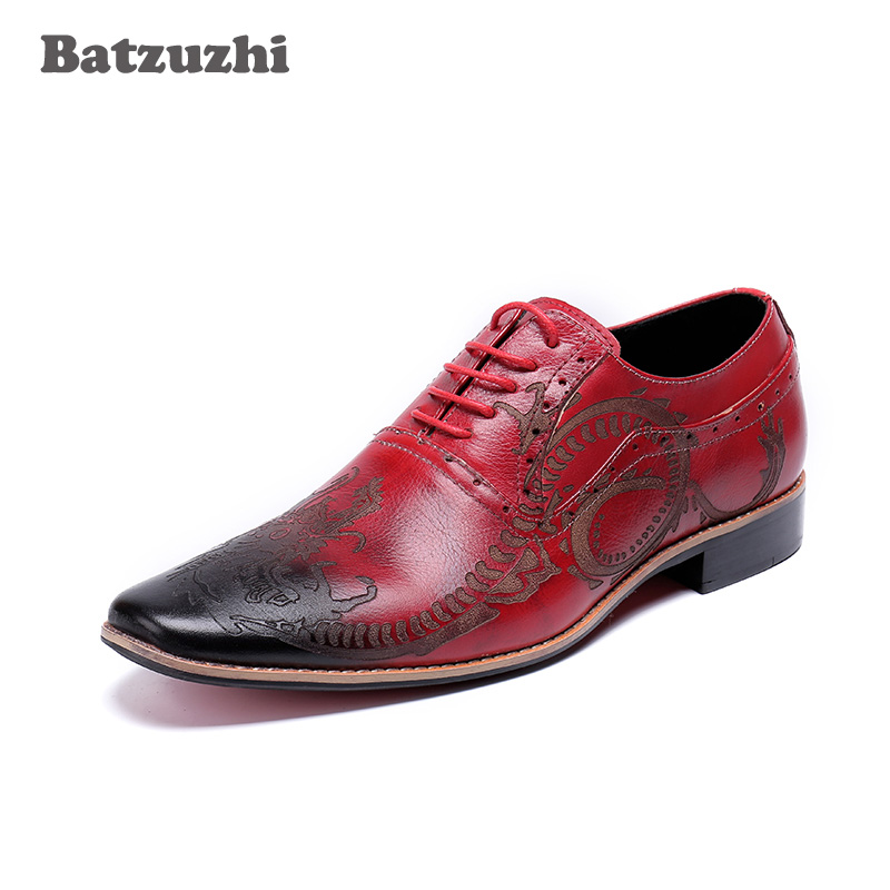 High Quality Men Oxfords Shoes British Style Carved Genuine Leather Shoes Wine Red Brogue Lace-Up Bullock Business Mens Flats desai brand genuine leather shoes men oxfords shoes british style carved brown brogue shoes lace up bullock business men s flats