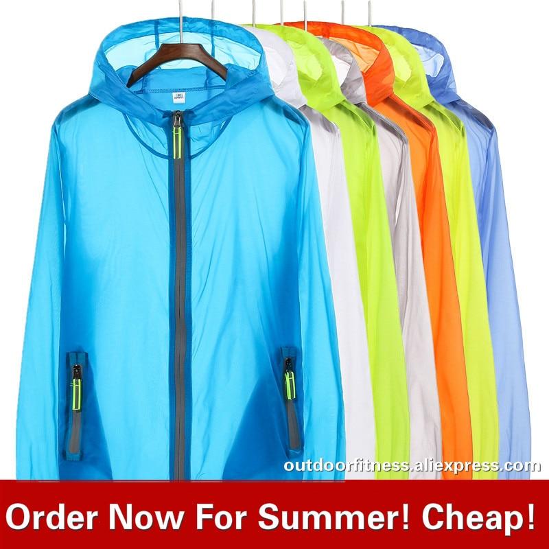 Sun Protection Hiking Jackets Summer Women Men Ultra Thin Jacket Anti UV Coat Hooded Zipper Plus Size XXXL XXXXL 7XL