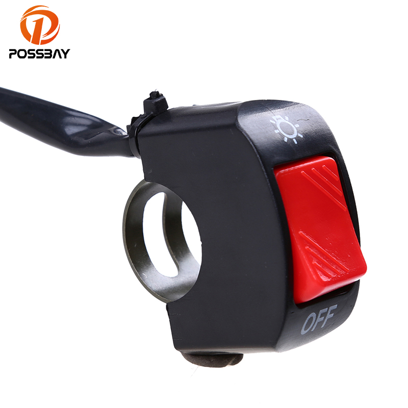 Cara 7//8 Motorcycle Handlebar Switch Red Horn Button Kill Switch for ATV Dirt Bike Motorbike Stop Switches