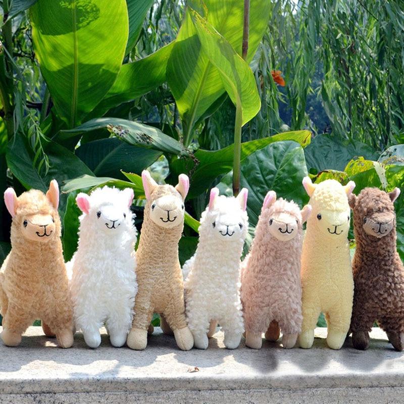 23cm alpaka Llama peluş oyuncaklar çocuklar için dolması hayvan bebekler yumuşak oyuncaklar dolması peluş oyuncaklar hediye doğum günü için çocuk odası dekor