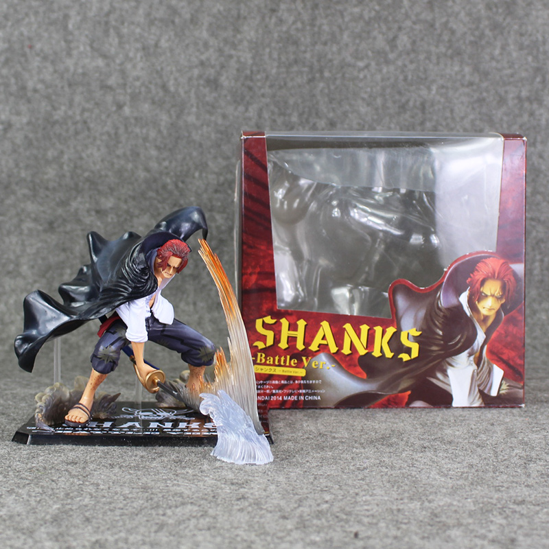 13cm Anime One Peice Akakami No Shankusu Figure Red Hair Shanks PVC Action Model Children Collectibles Toys Free Shipping