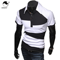 Mens Polo Shirt Brands 2017 Male Short Sleeve Fashion Casual Slim Personality Spell Color Polos Men Jerseys