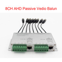 Free shipping 8CH AHD Passive Vedio Balun High Definition 720P/1080P AHD/HDCVI/HDTVI BNC to UTP Cat5/5e/6 Transmitter 300m