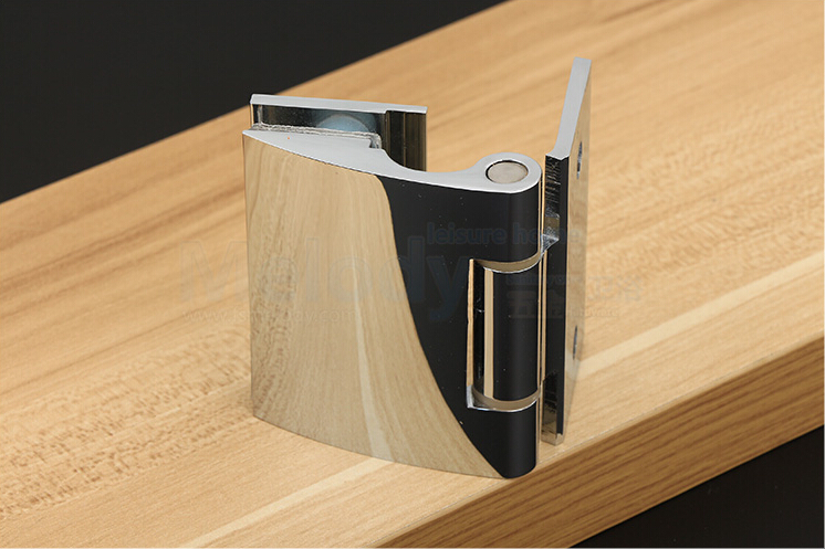 all brass glass clamp connector shower room folder H001S glass hinge in Door Hinges from Home Improvement