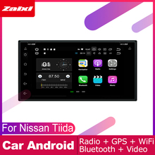 ZaiXi 2 DIN Auto DVD Player GPS Navi Navigation For Nissan Tiida 2004~2012 Car Android Multimedia System Screen Radio Stereo yessun car android navigation system for fiat palio 2004 2014 radio stereo cd dvd player gps navi bt hd screen multimedia