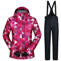 2017 New High Quality Women Skiing Jackets And Pants Snowboard Sets Thick Warm Waterproof Windproof Winter