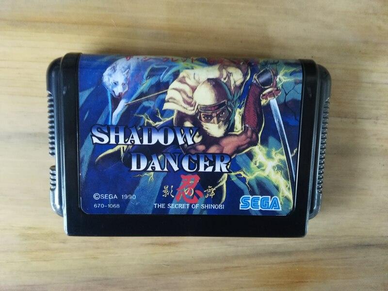 MD Game : SHADOW DANCER THE SECRET OF SHINOBI ( Japan Version!! )