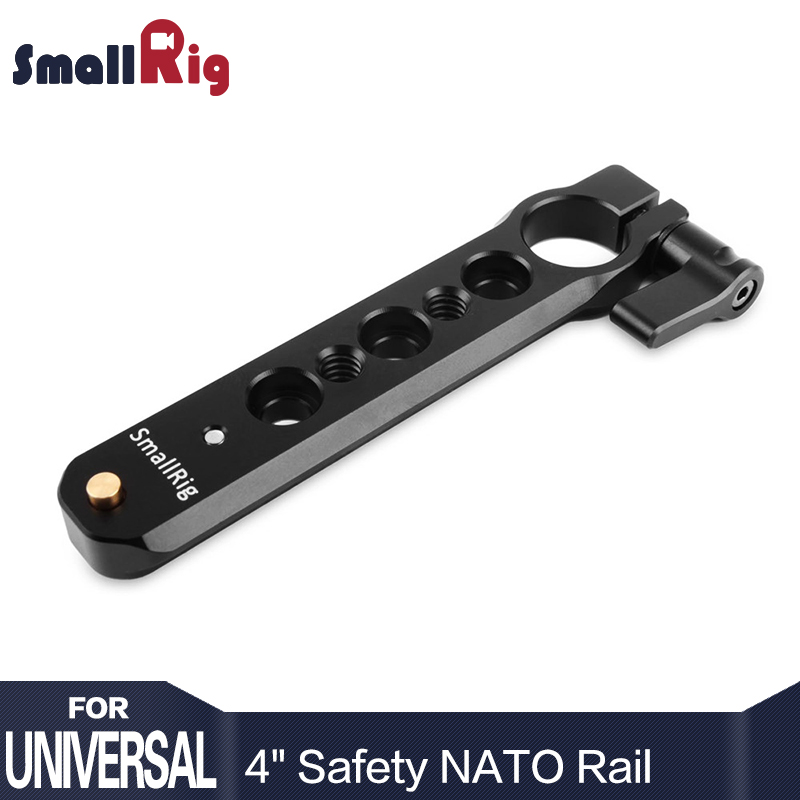SmallRig Safety NATO Rail 98mm Long ( 4 inch ) with 15mm Rod Clamp 360 Angle Adjustment Easily Mount EVF and Rod - 1910