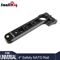 SmallRig Safety NATO Rail 98mm Long ( 4 inch ) with 15mm Rod Clamp 360 Angle Adjustment Easily Mount EVF and Rod 1910