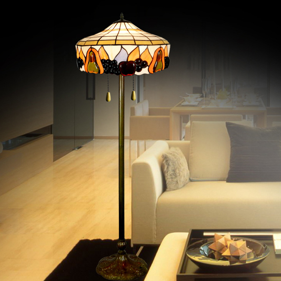 Creative tiffany garden lights floor lamps luxury interior for Boardwalk tiffany floor lamp
