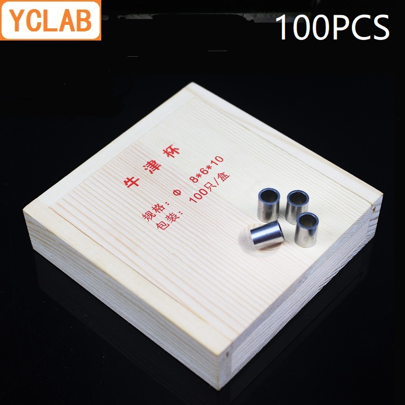 YCLAB 100PCS Oxford Cup Stainless Steel Antibiotic Titer Microbial Culture Ring Laboratory Biology Chemistry Equipment