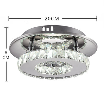 גביש מנורת הוא עכשווי ונדבק מרפסת מסדרונות אור תאורה ביתית מנורות ופנסים של מרפסת