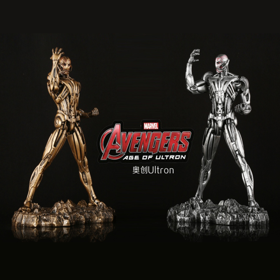 SAINTGI Iron Man 3 Ultron MARK 7 statue metal Action Figure Gold Edition The Avengers Anime Marvel MK42 Toy Classic 30cm фигурка planet of the apes action figure classic gorilla soldier 2 pack 18 см