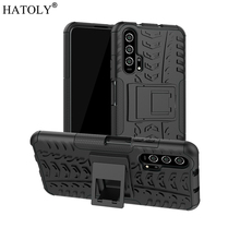 Huawei Honor 20 Pro Case Armor Heavy Duty Hard Rubber TPU Back Phone Cover for