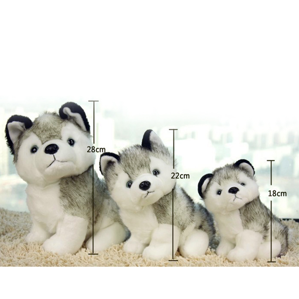 Cool 18/22CM Plush Husky Dog Simulation Kids Stuffed Toy for Girls Girlfriend Children