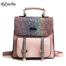 Rdywbu Colorful Glitter Sequins Backpack