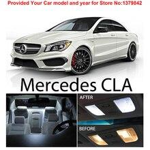 Free Shipping 13Pcs/Lot Xenon White Premium Package Kit LED Interior Lights For Mercedes Benz CLA CLA250 CLA45 AMG 2014 up цена в Москве и Питере