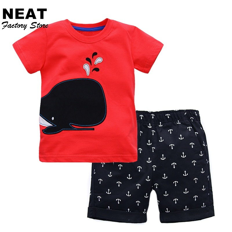 Retail Summer Boys Sets Kids t-shirts Boy Cotton t shirt +Shorts Suit Set Children School Clothing Kid Clothes M20090 Mix brand fashion kids summer slim top mickey kid t shirt minnie mouse boys clothes shirts cotton short sleeve tee shirt